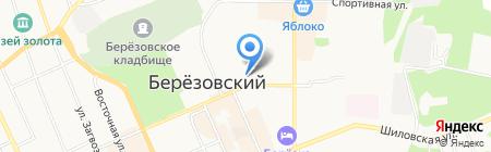 Бобрёнок на карте Берёзовского