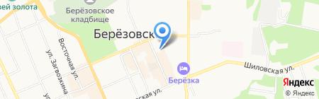 Минимаркет печатной продукции на карте Берёзовского