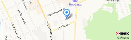 Гимназия №5 на карте Берёзовского