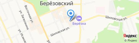 Гузаль на карте Берёзовского