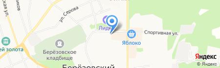 Алтайские травы на карте Берёзовского