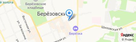 Рыбонька на карте Берёзовского