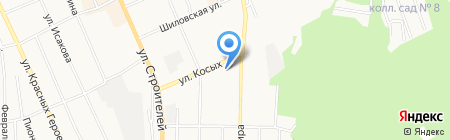 Дверкино на карте Берёзовского