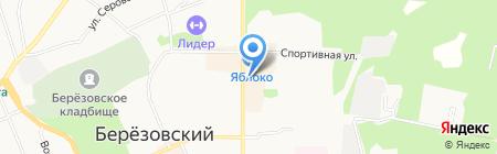 Модерн на карте Берёзовского