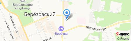 Киоск по продаже печатной продукции на карте Берёзовского