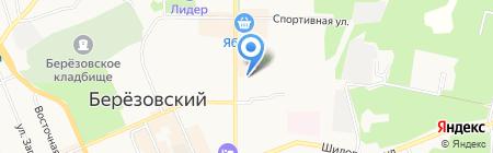 Автостоянка на ул. Гагарина на карте Берёзовского