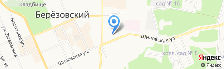 Стоматологическая поликлиника г. Березовского на карте Берёзовского