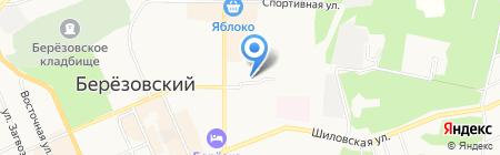 Алый парус на карте Берёзовского