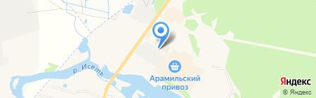 Киоск по продаже фастфудной продукции на карте Арамиля
