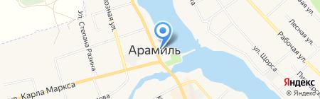 Киоск по продаже печатной продукции на карте Арамиля