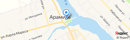 Храм во имя Святой Троицы на карте Арамиля