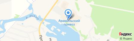 Автостоянка на Пролетарской на карте Арамиля