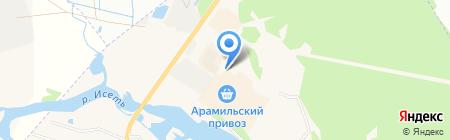 Арамильский привоз на карте Арамиля