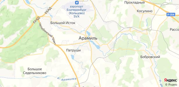 Арамиль на карте