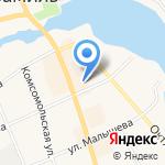 Свердловская птицефабрика на карте Арамиля