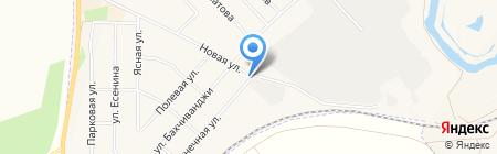 Автостоянка на Новой на карте Арамиля