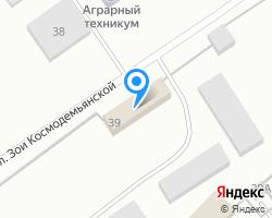 Схема местоположения почтового отделения 456881