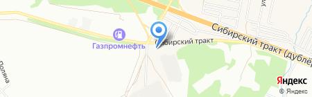 Каменный Клондайк на карте Екатеринбурга