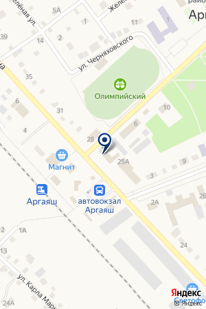 АРГАЯШСКИЙ РАЙОННЫЙ ОТДЕЛ СУДЕБНЫХ ПРИСТАВОВ на карте Аргаяша