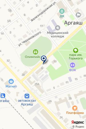СОВХОЗ АКБАШЕВСКИЙ на карте Аргаяша