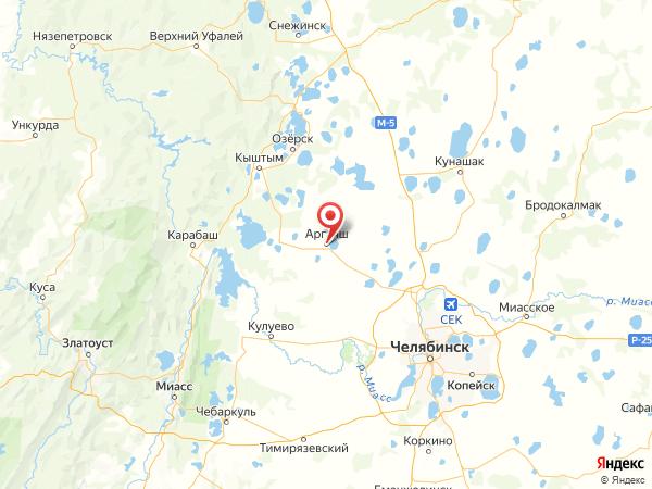 село Аргаяш на карте