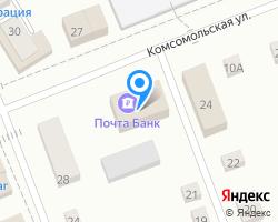 Схема местоположения почтового отделения 456880