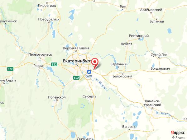посёлок Исток на карте