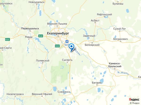 дачный поселок Красная Поляна на карте
