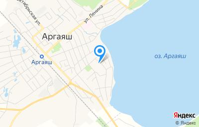 Местоположение на карте пункта техосмотра по адресу Челябинская обл, с Аргаяш, ул Рабочая, д 1А