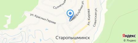 Флагманъ на карте Старопышминска