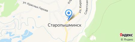 Магазин промышленных товаров на карте Старопышминска