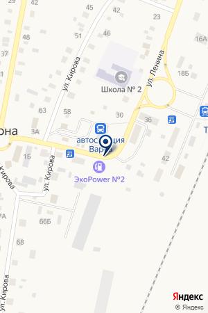 АВТОСТАНЦИЯ ВАРНА на карте Варны