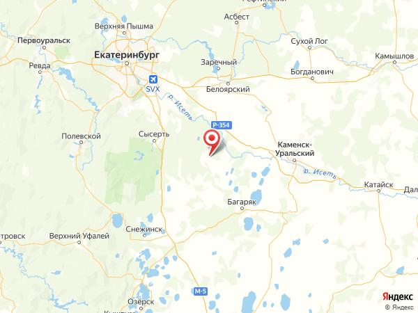 село Сосновское на карте