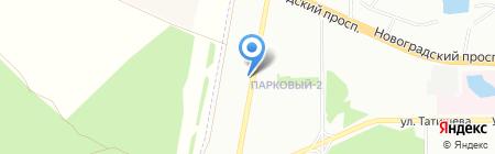 Парковый-2 на карте Челябинска