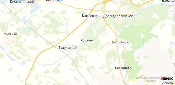 Рощино на карте