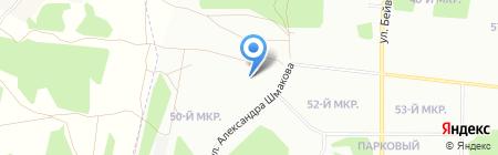 Парковый на карте Челябинска