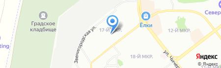 Апельсин на карте Челябинска