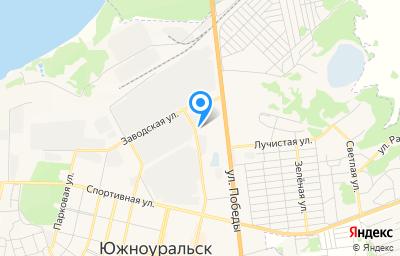Местоположение на карте пункта техосмотра по адресу Челябинская обл, г Южноуральск, ул Заводская, д 3А