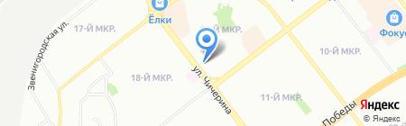 Потолок Комфорт на карте Челябинска