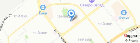 Автопорт174 на карте Челябинска