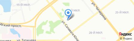 Тамле на карте Челябинска