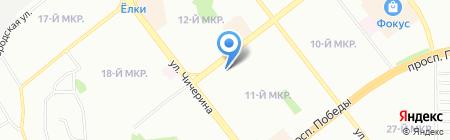 Аргус на карте Челябинска