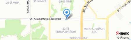 Солнышко на карте Челябинска