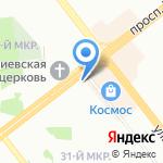 Ош на карте Челябинска