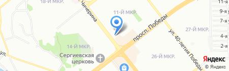 Бархат на карте Челябинска