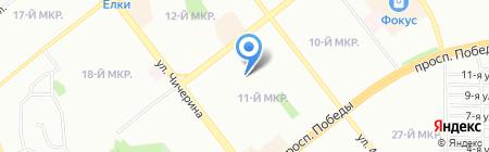 ЮжУралСейф на карте Челябинска