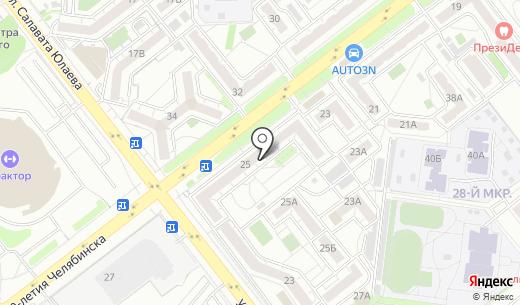 Сказка. Схема проезда в Челябинске