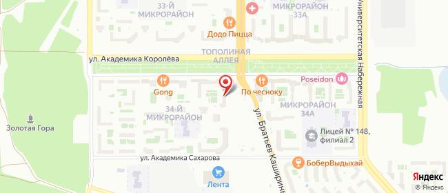 Карта расположения пункта доставки Lamoda/Pick-up в городе Челябинск