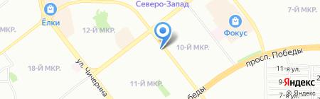 Клио на карте Челябинска