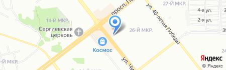 Засоня на карте Челябинска